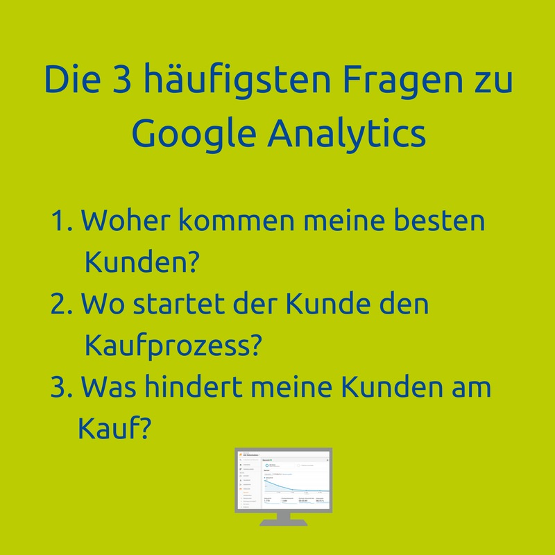 Google Analytics Seminar Fragen